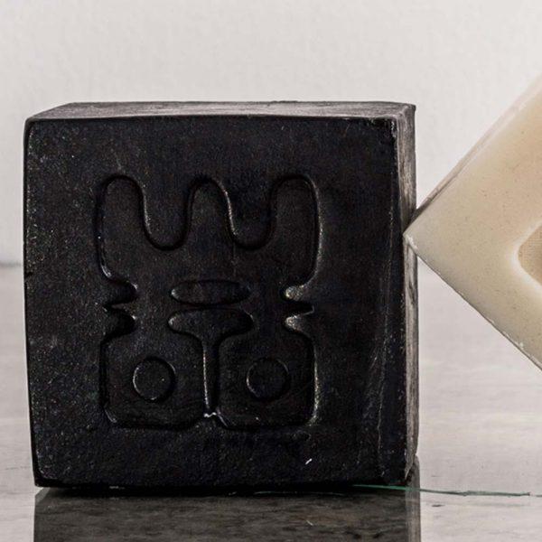 woo charcoal soap display