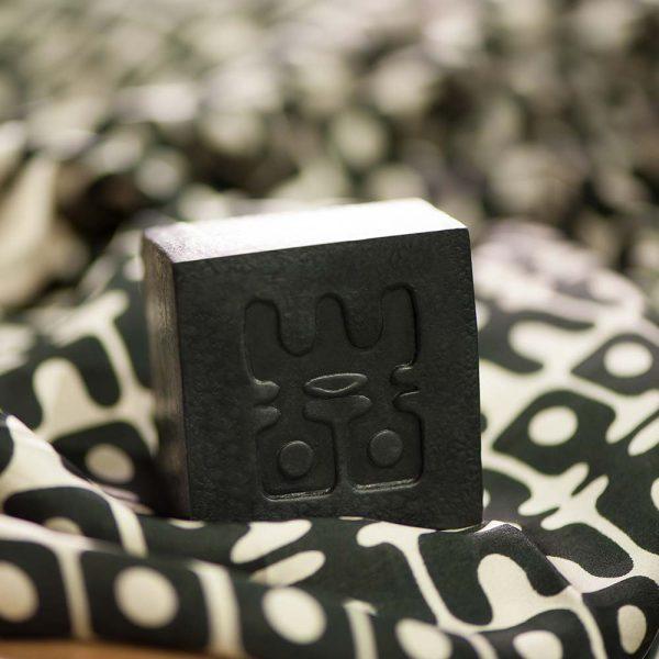 woo charcoal soap on bag