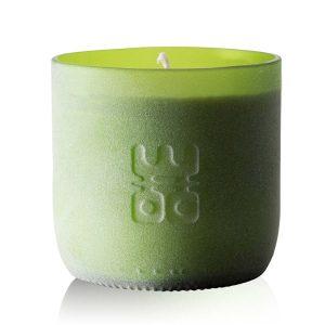 woo candle matt green large