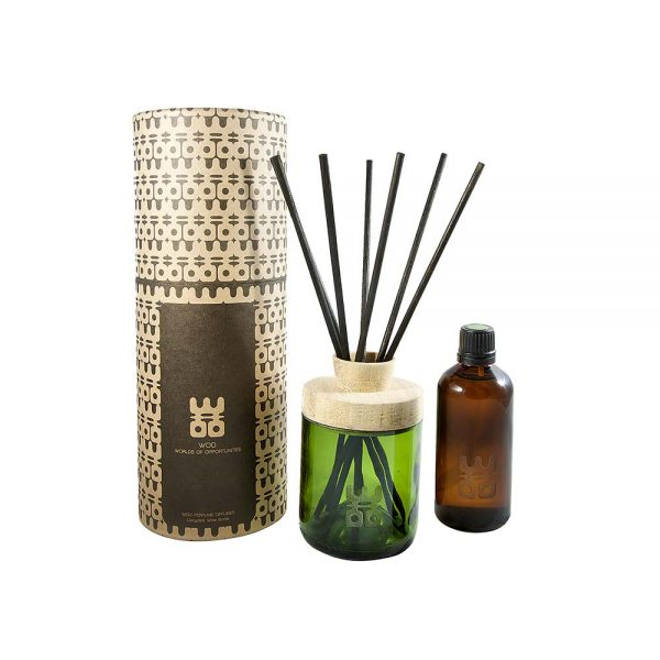 woo perfume diffuser green 100ml packaging