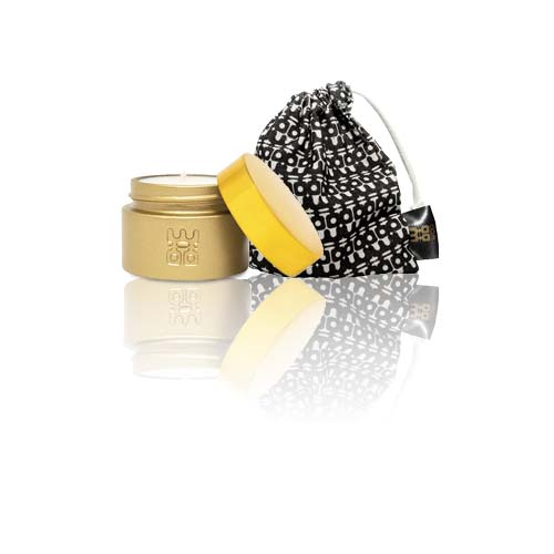 woo travel candle with bag gold