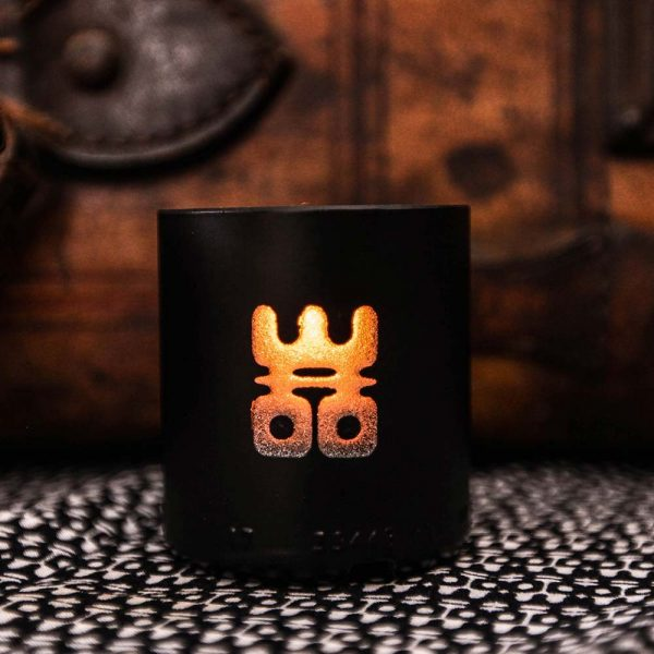 woo lucky candle black small burning
